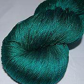 Материалы для творчества ручной работы. Ярмарка Мастеров - ручная работа Пряжа 100%шелк ручной окраски Crazy emerald. Handmade.
