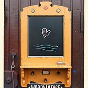 """Для дома и интерьера ручной работы. Ярмарка Мастеров - ручная работа Полка Доска для записей """"Милая Охра"""". Handmade."""