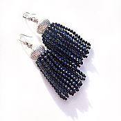 Украшения handmade. Livemaster - original item Earrings tassel made of natural lapis lazuli
