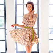 """Одежда ручной работы. Ярмарка Мастеров - ручная работа Платье из хлопка """"Цветочный  вальс"""". Handmade."""