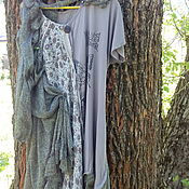 Одежда ручной работы. Ярмарка Мастеров - ручная работа бохо-платье ТРАВУШКА-МУРАВУШКА. Handmade.
