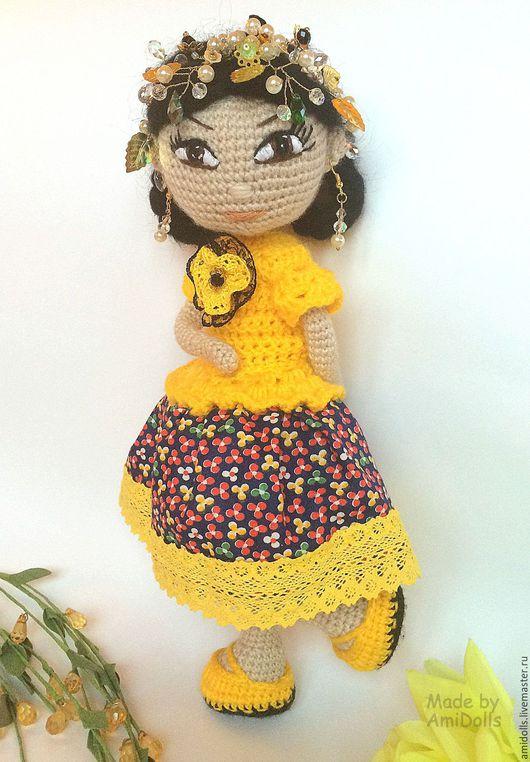 Коллекционные куклы ручной работы. Ярмарка Мастеров - ручная работа. Купить Кукла Осень. Итнтерьерная вязаная игрушка амигуруми. Handmade.