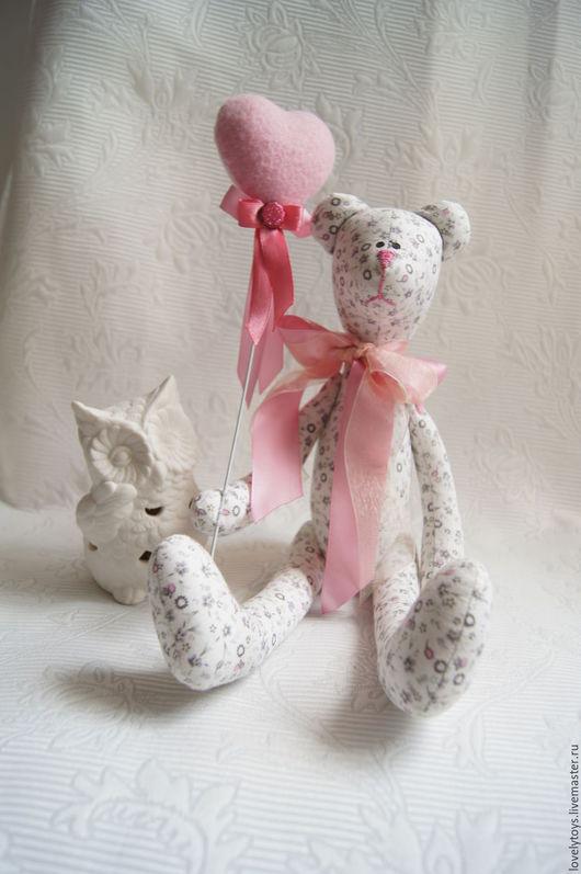 Мишки Тедди ручной работы. Ярмарка Мастеров - ручная работа. Купить Мишка тильда. Handmade. Бледно-розовый, хлопок