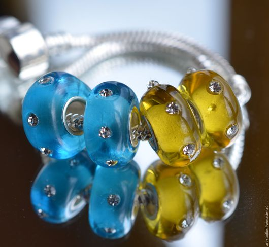 Для украшений ручной работы. Ярмарка Мастеров - ручная работа. Купить Бусины из цветного стекла (2 вида).. Handmade. украшение