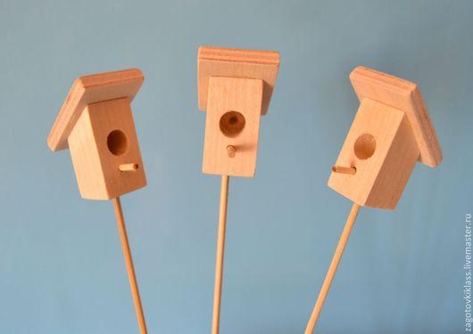 Куклы и игрушки ручной работы. Ярмарка Мастеров - ручная работа. Купить Скворечник-мини  деревянный. Handmade. Бежевый, скворечники, птички