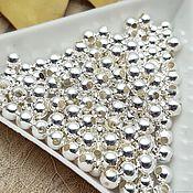 Материалы для творчества handmade. Livemaster - original item 20 PCs. 4 mm silver spacer beads (2709-S). Handmade.
