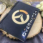 Канцелярские товары handmade. Livemaster - original item Overwatch Wooden Notepad / Sketchbook. Handmade.