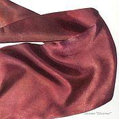 """Шарфы ручной работы. Ярмарка Мастеров - ручная работа Мужской шелковый шарф кашне """"Цвет вина"""" в подарок бордо. Handmade."""