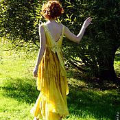 """Платья ручной работы. Ярмарка Мастеров - ручная работа """"Вино из одуванчиков"""" Платье летнее валяное нуно-фелт. Handmade."""