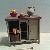 """Куклы и игрушки handmade. Livemaster - original item Тумба для кукольного дома большая """"Оливковое настроение"""". Handmade."""