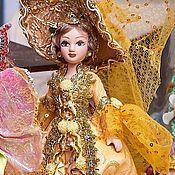 Куклы и игрушки handmade. Livemaster - original item Lady in gold-porcelain doll. Handmade.