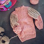 Работы для детей, ручной работы. Ярмарка Мастеров - ручная работа Розовый свитер для девочки. Handmade.