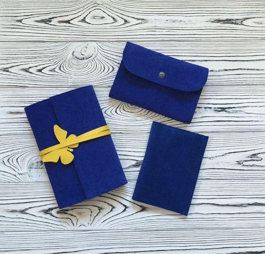 Блокноты ручной работы. Ярмарка Мастеров - ручная работа. Купить Набор блокнот, холдер для автодокументов и обложка на паспорт. Handmade.