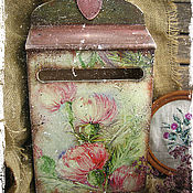 """Для дома и интерьера ручной работы. Ярмарка Мастеров - ручная работа """"В зарослях чертополоха...."""" почтовый ящик. Handmade."""