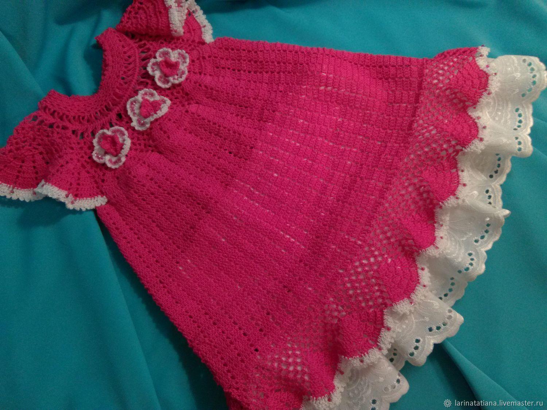Платье для девочки Фуксия авторская работа