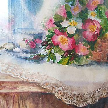 """Картины и панно ручной работы. Ярмарка Мастеров - ручная работа Картины: """"Чай с шиповником"""". Handmade."""