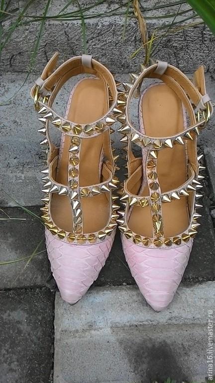 туфли из кожи питона, Обувь, Москва, Фото №1