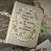 "Канцелярские товары ручной работы. Ярмарка Мастеров - ручная работа Блокнот "" Mon jardin est rempli de secrets et le charme et l`amour"". Handmade."