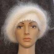 Аксессуары handmade. Livemaster - original item Down hat takes Aksinya fluffy warm soft. Handmade.