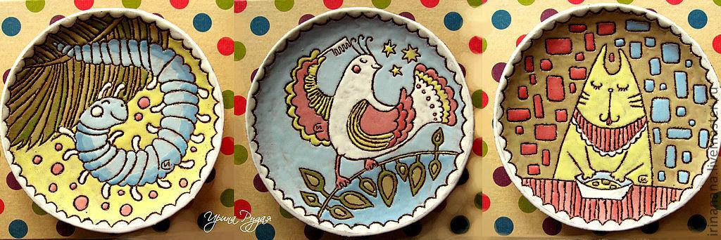 Керамическая тарелка своими руками