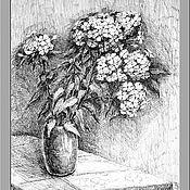 """Картины и панно ручной работы. Ярмарка Мастеров - ручная работа Картина """" Флоксы"""". Handmade."""