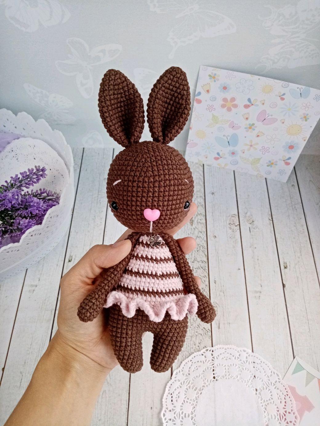 Зайка АмиГуруми (18 см), Амигуруми куклы и игрушки, Ишимбай,  Фото №1