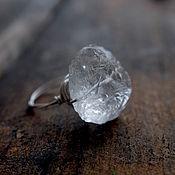 Украшения ручной работы. Ярмарка Мастеров - ручная работа Серебряное кольцо с кристаллическим кварцем. Handmade.