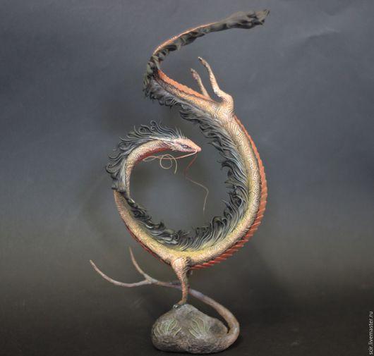 """Статуэтки ручной работы. Ярмарка Мастеров - ручная работа. Купить статуэтка """"Дракон"""" (статутэтка китайского дракона, дракон статуэтка). Handmade."""