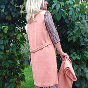 Одежда ручной работы. Ярмарка Мастеров - ручная работа Длинный жилет-пальто. Handmade.