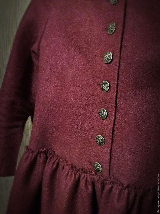 """Платья ручной работы. Ярмарка Мастеров - ручная работа. Купить Платье """"Винное"""". Handmade. Бордовый, платье с пышной юбкой, вискоза"""