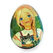 Подарки к праздникам ручной работы. Ярмарка Мастеров - ручная работа Подарок на Пасху яйцо расписное пасхальное Аленушка. Handmade.