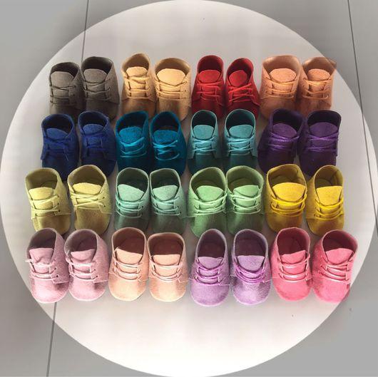 Куклы и игрушки ручной работы. Ярмарка Мастеров - ручная работа. Купить ботиночки для кукол и игрушек 28 цветов. Handmade. Обувь