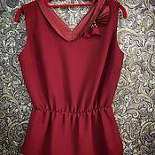 Одежда ручной работы. Ярмарка Мастеров - ручная работа Блуза марсала. Handmade.