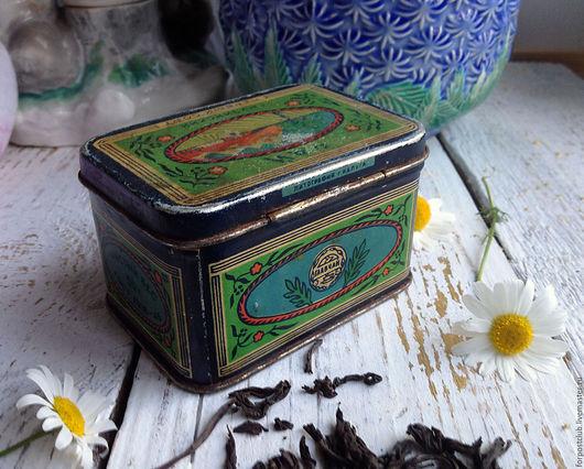 Винтажная посуда. Ярмарка Мастеров - ручная работа. Купить Баночка от грузинского чая. Handmade. Комбинированный, чай, ретро стиль, жесть