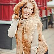 Одежда ручной работы. Ярмарка Мастеров - ручная работа Меховой жилет из рыжей лисы. Handmade.