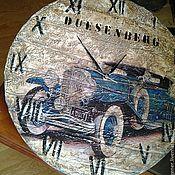 Для дома и интерьера ручной работы. Ярмарка Мастеров - ручная работа Часы настенные большие двусторонние дизайнерские W0297. Handmade.