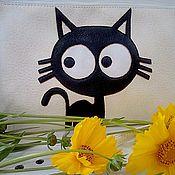 """Клатчи ручной работы. Ярмарка Мастеров - ручная работа Клатч """"Чёрный кот"""". Handmade."""