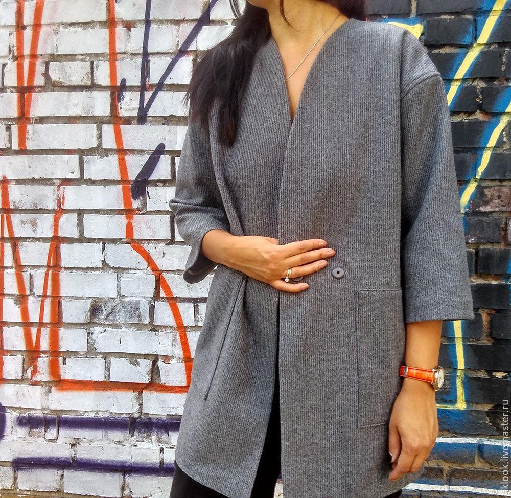 33d8fa31539 Верхняя одежда ручной работы. Ярмарка Мастеров - ручная работа. Купить  Женское весеннее пальто жакет ...