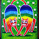 Фантазийные сюжеты ручной работы. Ярмарка Мастеров - ручная работа. Купить Радужные коты. Handmade. Разноцветный, дружба, счастье в дом