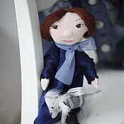 """Куклы и игрушки ручной работы. Ярмарка Мастеров - ручная работа Театральная кукла на руку """"Дама с собачкой"""". Handmade."""