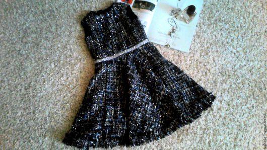 Одежда для девочек, ручной работы. Ярмарка Мастеров - ручная работа. Купить Праздничное платье из твида. Handmade. Платье нарядное