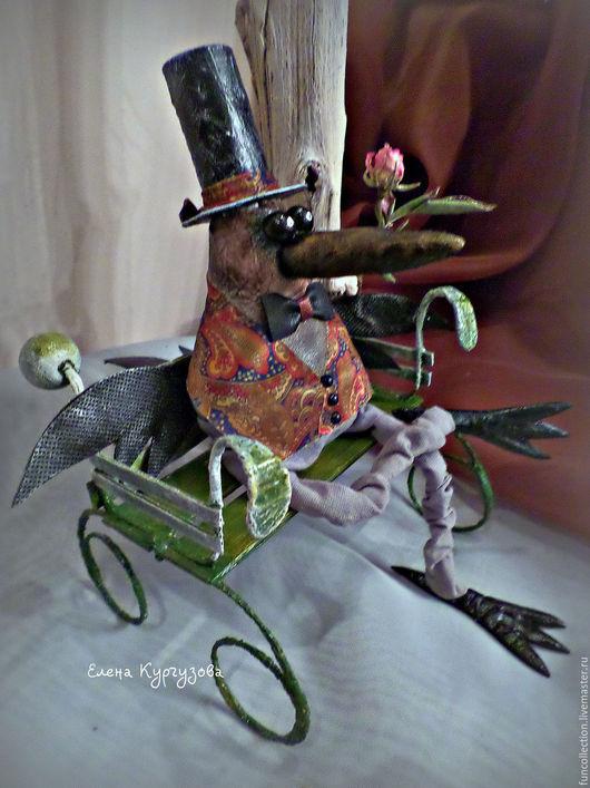 Куклы и игрушки ручной работы. Ярмарка Мастеров - ручная работа. Купить Ворон Панкрат. Handmade. Коричневый, подарок, интерьерная игрушка