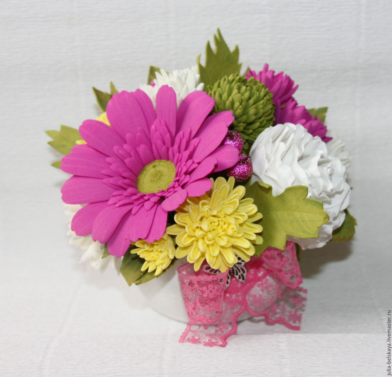 Композиции с цветов из фоамирана