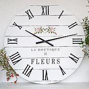 """Часы классические ручной работы. Ярмарка Мастеров - ручная работа Часы настенные 60cм """"Boutique"""". Handmade."""