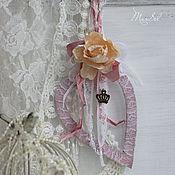 """Подарки к праздникам ручной работы. Ярмарка Мастеров - ручная работа Сердце-валентинка """"Розы в моём сердце"""". Handmade."""