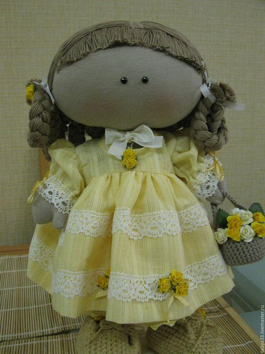 Куклы тыквоголовки ручной работы. Ярмарка Мастеров - ручная работа. Купить Кукла текстильная Анфиса. Handmade. Бежевый, уют, кружево