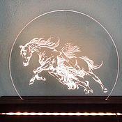 Ночники ручной работы. Ярмарка Мастеров - ручная работа Ночники: led с гравировкой. Handmade.