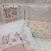 Бортики в кроватку ручной работы. Ярмарка Мастеров - ручная работа Бортики в детскую кроватку -№14 размер 40х60см. Handmade.