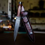Сувениры и подарки handmade. Livemaster - original item Dagger made of Damascus steel