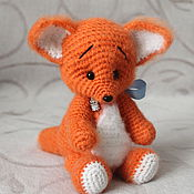 Куклы и игрушки ручной работы. Ярмарка Мастеров - ручная работа Лисенок Рыжик(вязаная игрушка). Handmade.